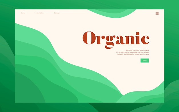 Organic planting informational website graphic Free Vector