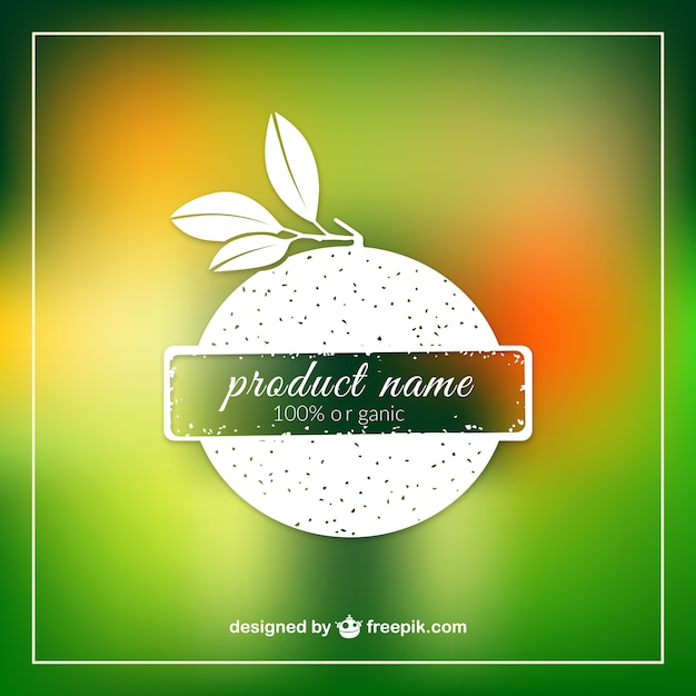 Organic product label template Vector – Product Label Template