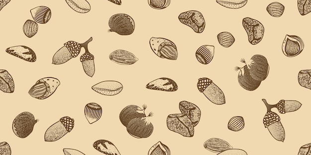 Organic seeds seamless pattern Free Vector