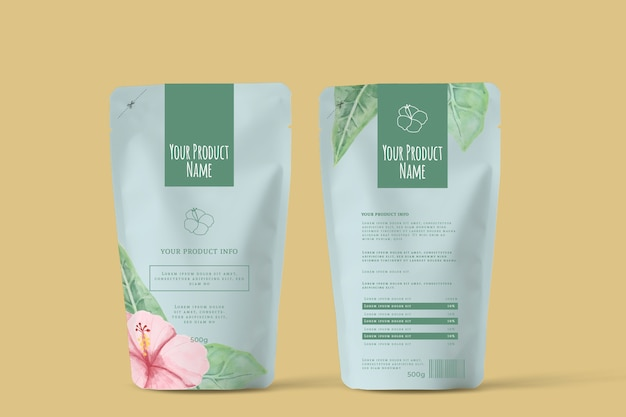 Organic spring flowers tea advertising Free Vector