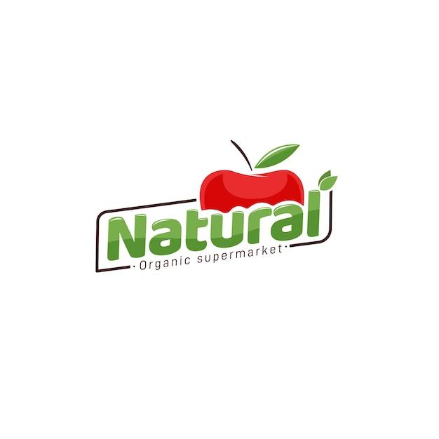 Organic supermarket logo design Premium Vector