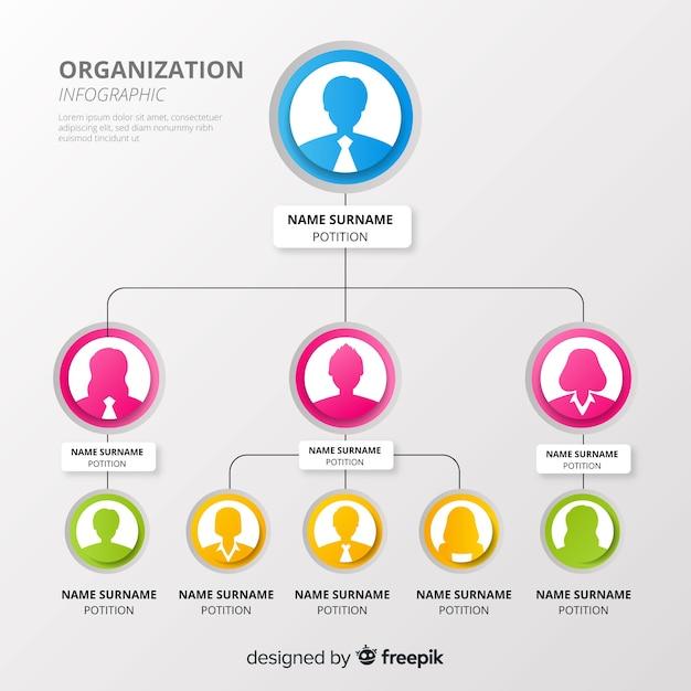 Организационная структура Premium векторы