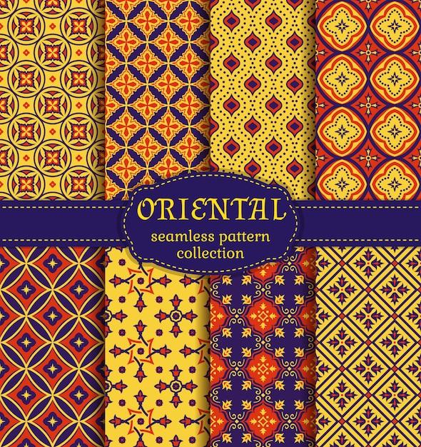 Oriental seamless patterns. Premium Vector
