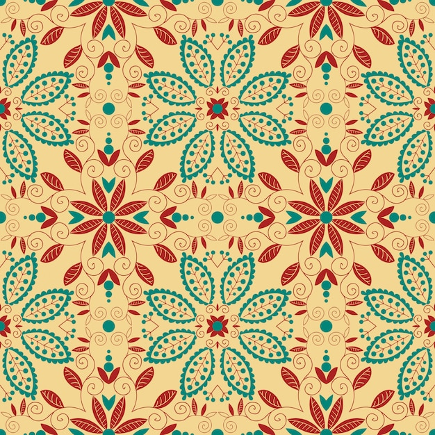 Oriental traditional ornament. seamless pattern. Premium Vector