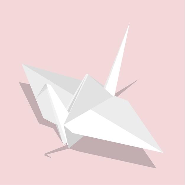 Uccello origami Vettore gratuito