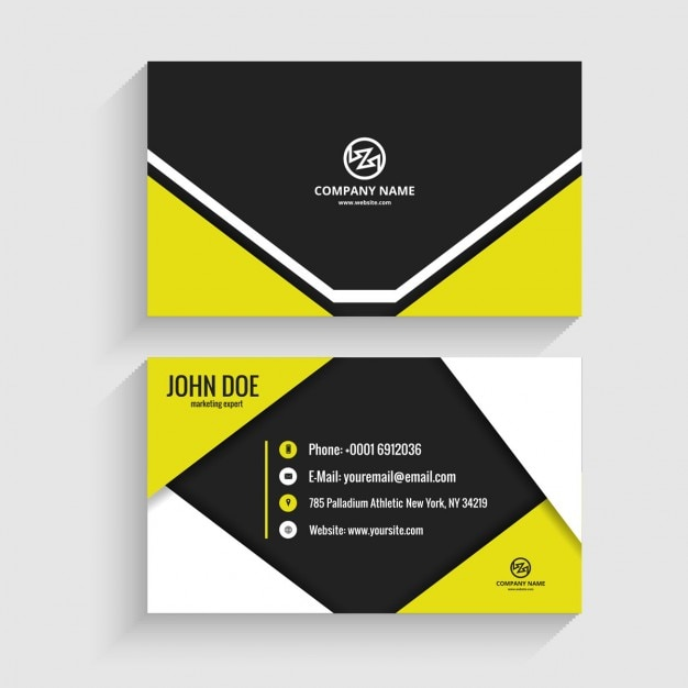 Origami Business Card Vector Free Download