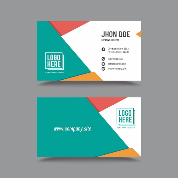 Origami Business Card Vector Premium Download