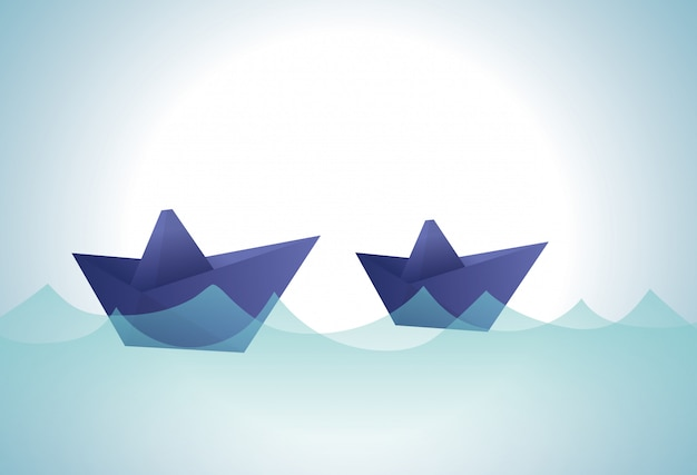 Origami design illustration Premium Vector