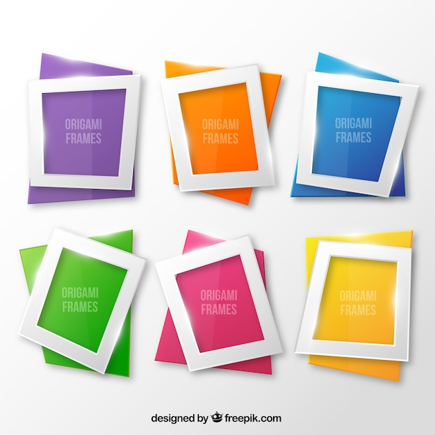 Origami frames Vector | Free Download