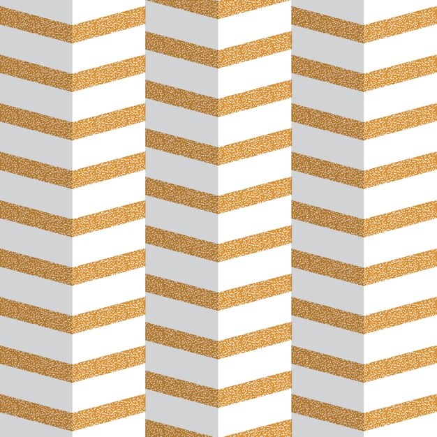 Origami golden zig zag seamless pattern Premium Vector
