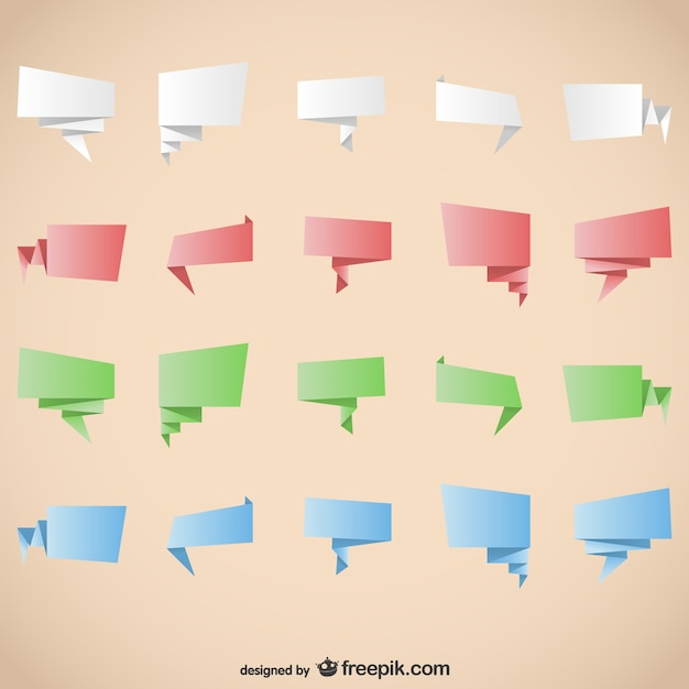 origami graphic elements vector free download