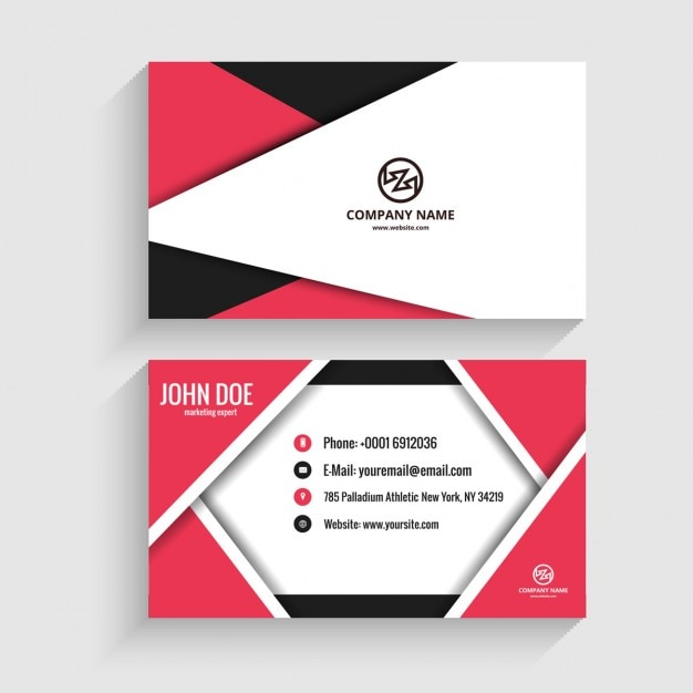 Origami modern business card vector free download origami modern business card free vector reheart Gallery