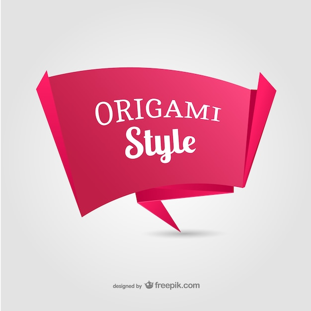 Origami paper banner Vector | Free Download