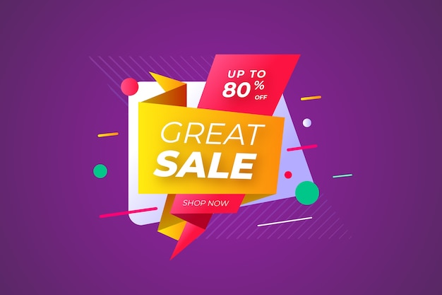 Origami paper colourful style of great sale Free Vector