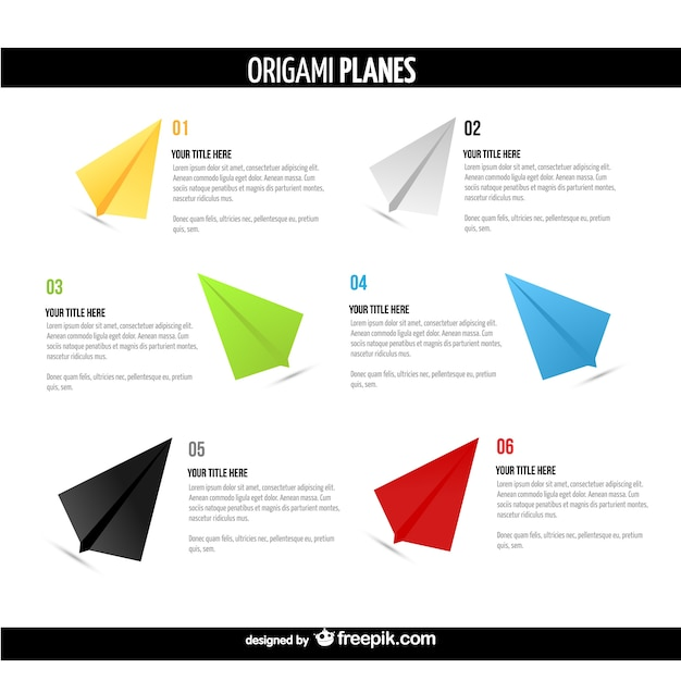 Origami Planes Templates Pack Free Vector