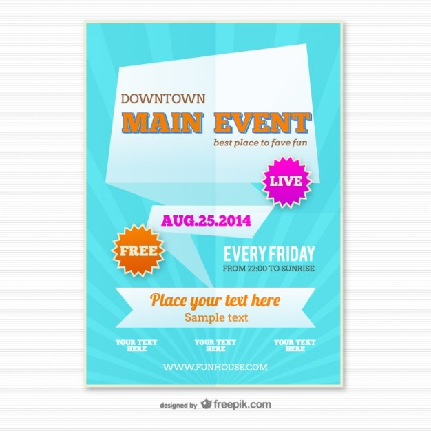 Origami poster template vector free download for Poster templates free download