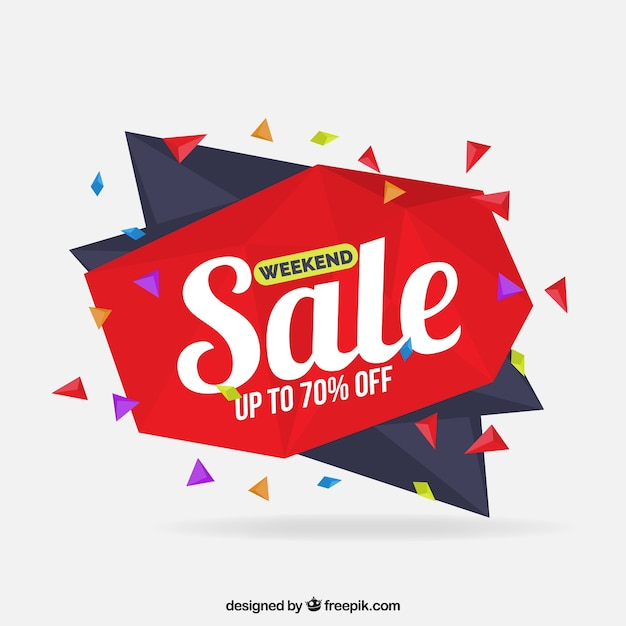 origami sale background vector free download