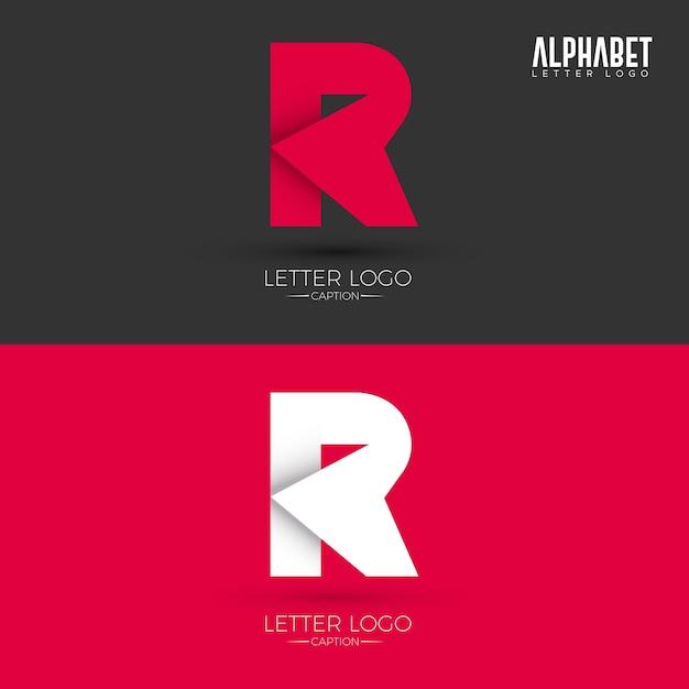 Origami Style R Letter Logo Premium Vector