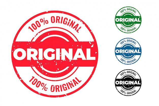 Original circular rubber stamps set of four Free Vector
