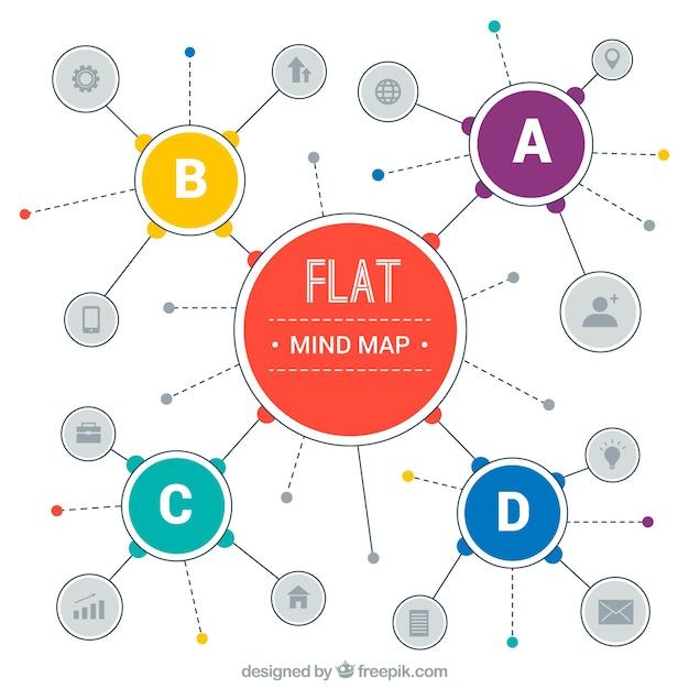 Original Diagram Template With Flat Design Vector