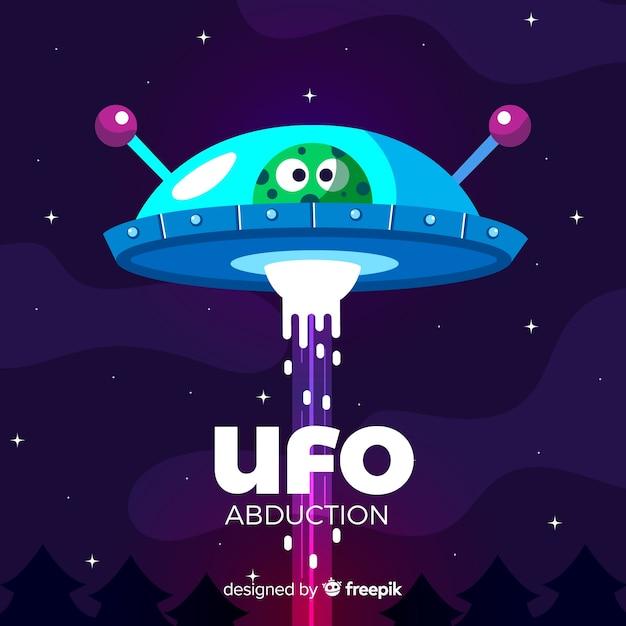 Original hand drawn ufo abduction concept Free Vector