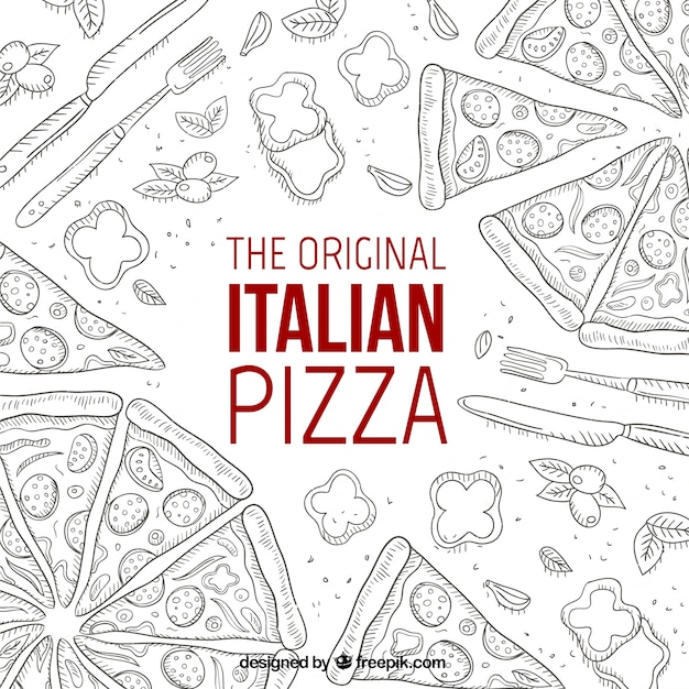 The original italian pizza Free Vector