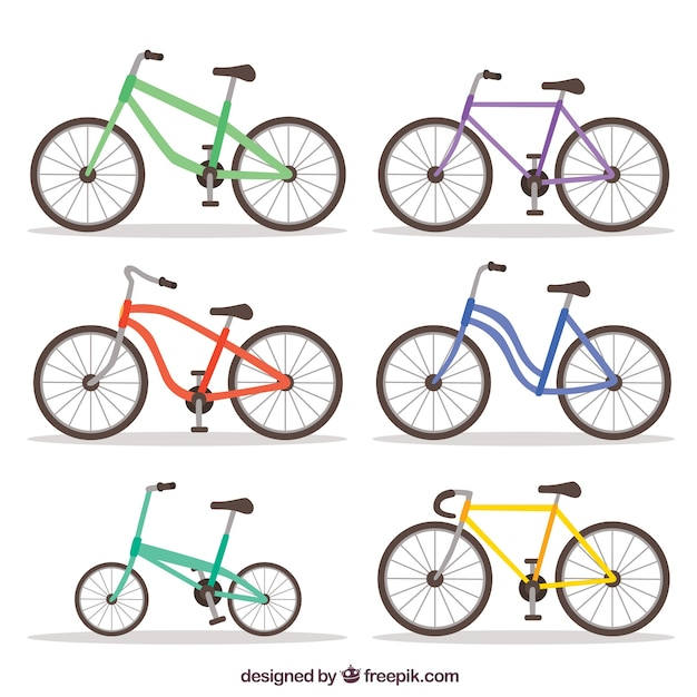 Original pack of modern bikes
