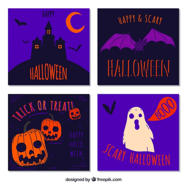 Original pack of modern halloween cards