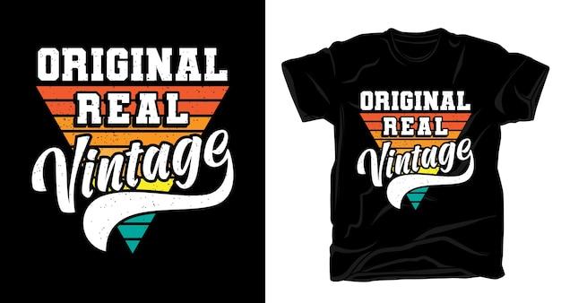 Оригинальная настоящая винтажная типография для дизайна футболки Premium векторы
