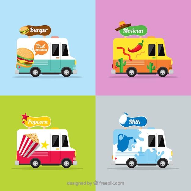 Original set of food trucks