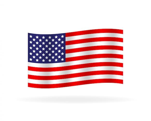 Original and simple united state of america flag. Premium Vector