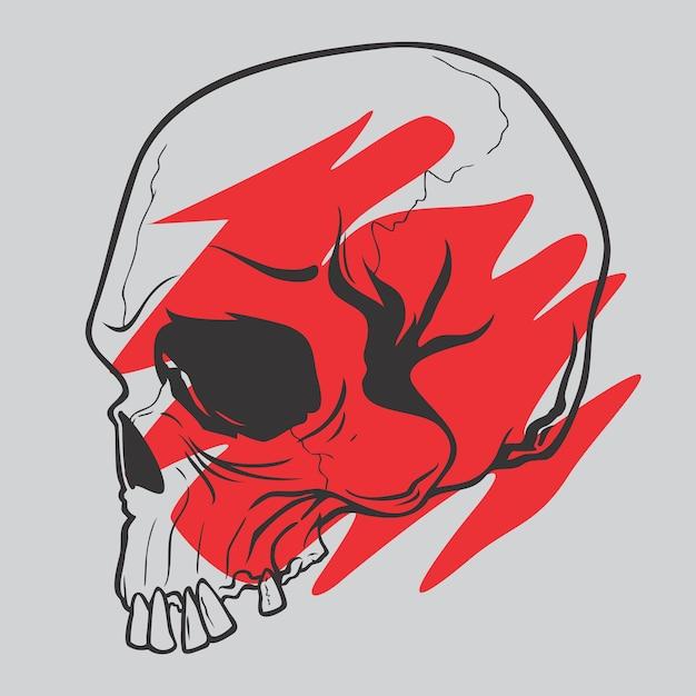 Original skull Premium Vector