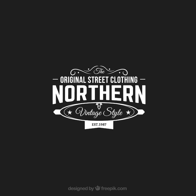 Original street clothing store logo
