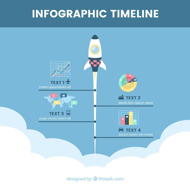 original timeline with rocket vector free download