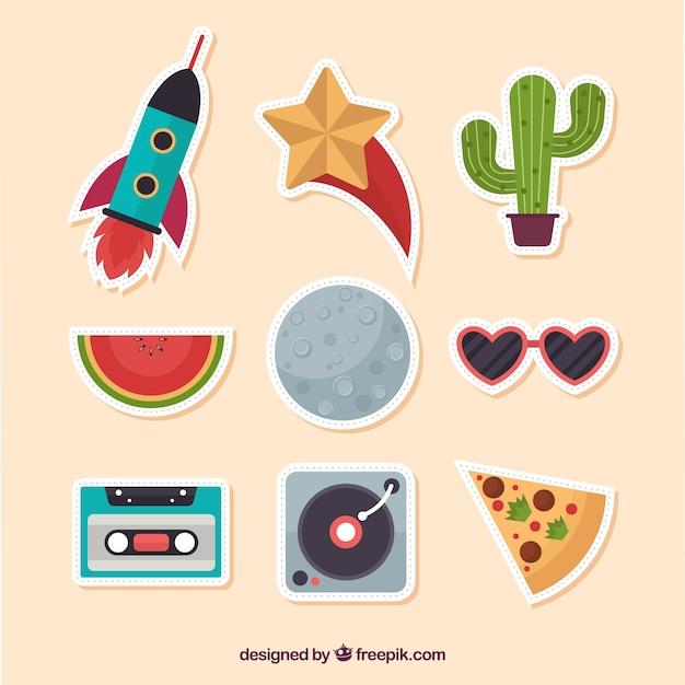 Original variety of flat stickers