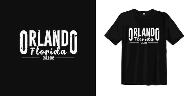 フロリダ州オーランド。 tシャツデザインのアーバンスタイルウェア Premiumベクター
