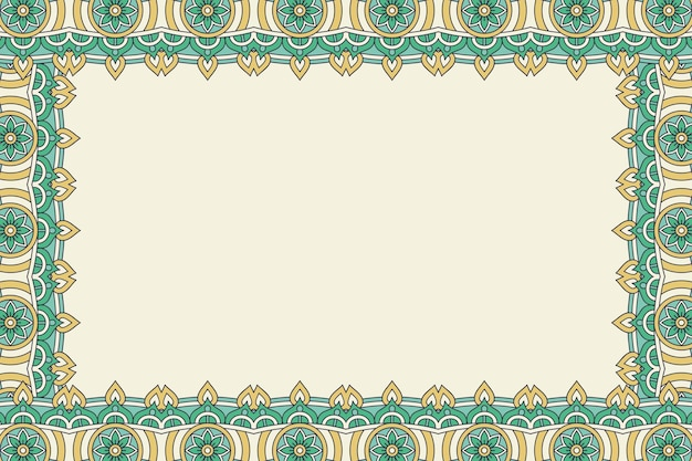Ornament beautiful background geometric floral frame Free Vector