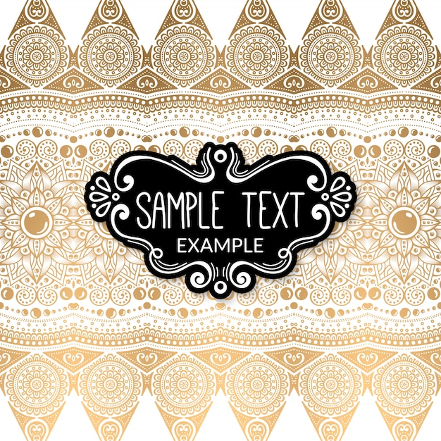 Ornament beautiful background Free Vector