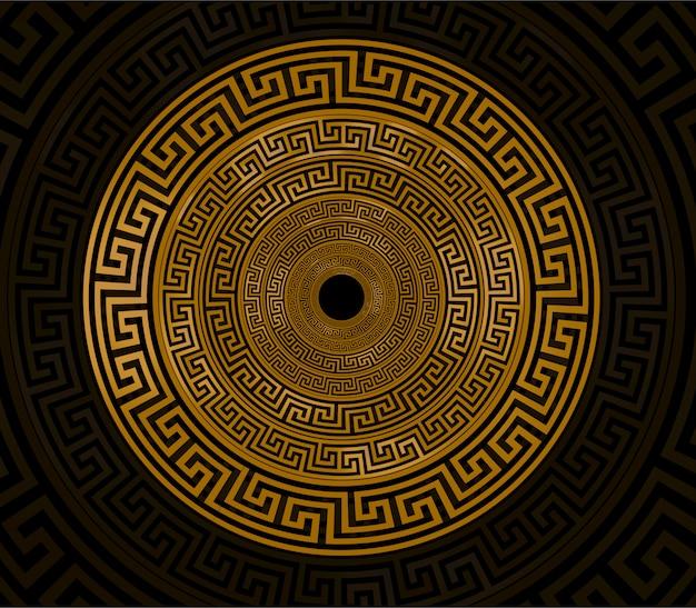 Ornament circel gold Premium Vector