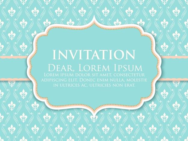 Ornament decoration invitation template Free Vector