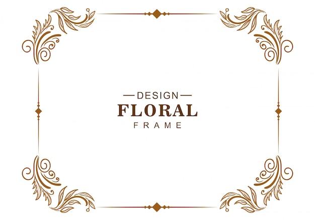 Ornamento decorativo creativo cornice floreale design Vettore gratuito