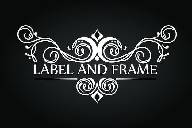 Ornament design for luxury logo Free Vector