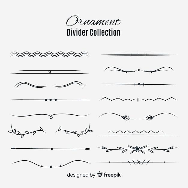 Ornament divider collectio Free Vector