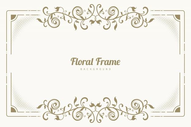 Орнамент цветочный фон рамки Бесплатные векторы