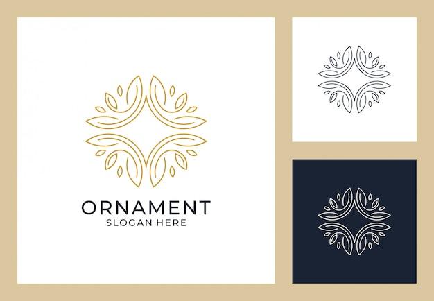 モノグラムスタイルの飾りロゴデザイン Premiumベクター
