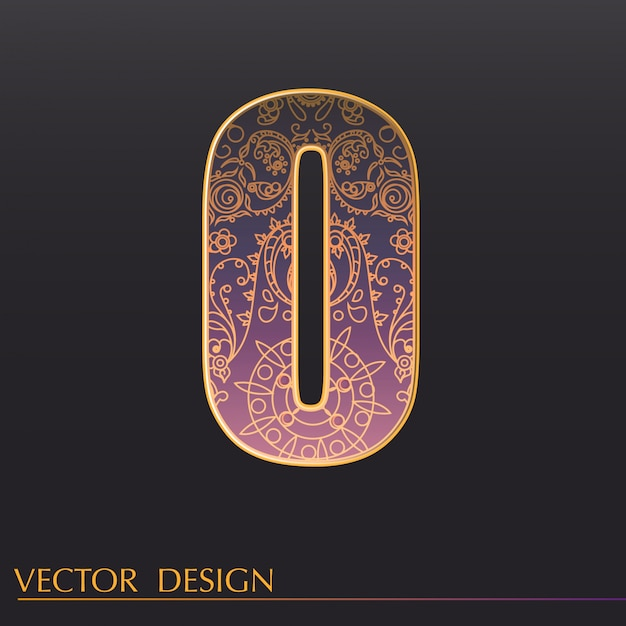 Ornamental 0 background Free Vector