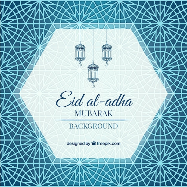 Ornamental Abstract Background Of Eid Al Adha Vector Free Download