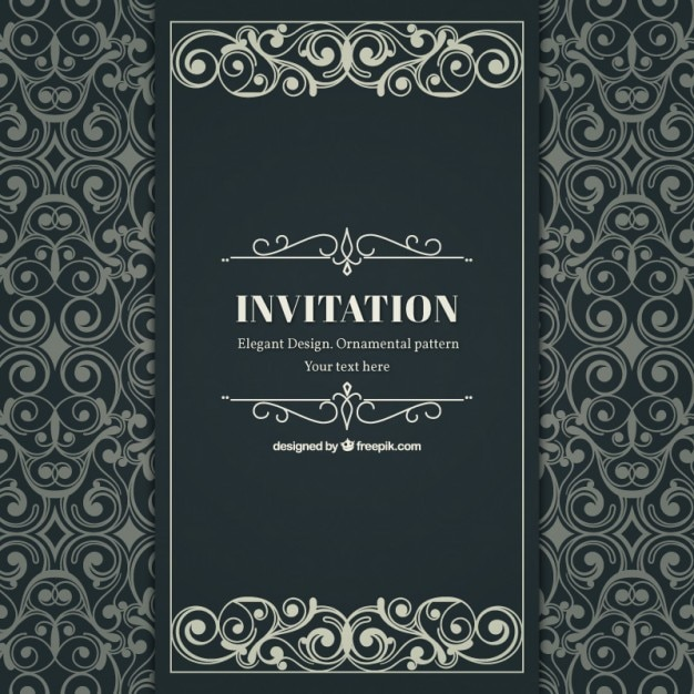 Ornamental and elegant invitation in victorian style Vector | Free ...