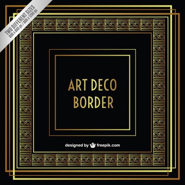 Ornamental art deco border Vector | Free Download