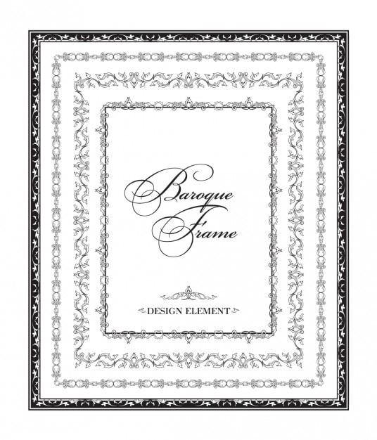 Ornamental black baroque frame Vector | Free Download